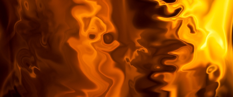 floating abstract fluid shapes of fire in fire flame