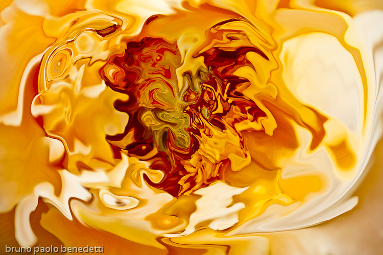 orange and red shades and undertones in fluid abstrat orange background