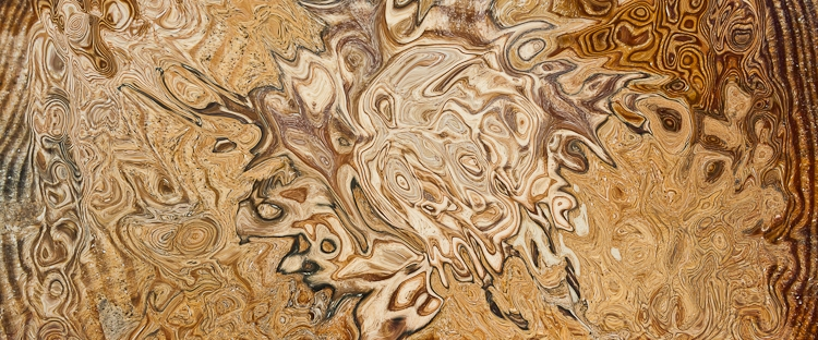 brown color fluid shape with many tones in rough texture