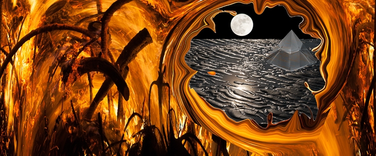vortex dissolving fire takes to dream lanscape