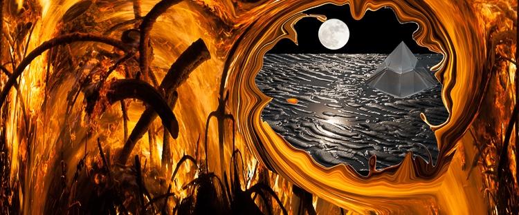 vortex dissolving fire takes to dream lanscape