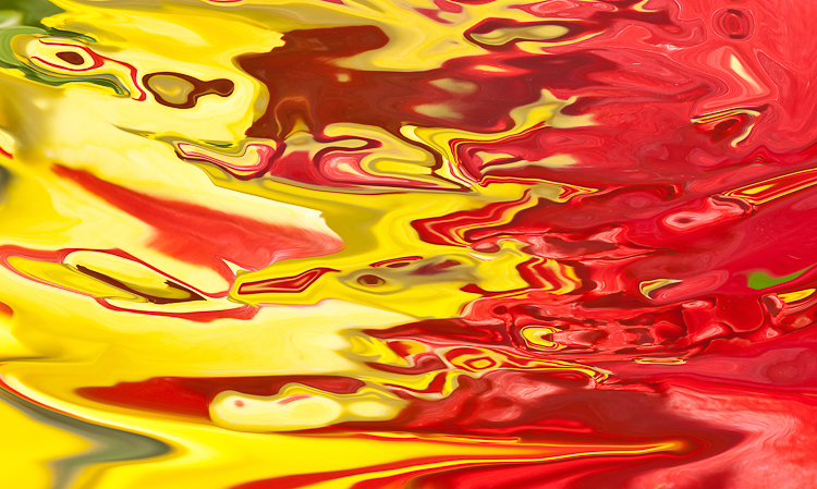 abstract brilliant red and yellow horizontal flow