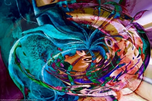 colorful abstract swirl art: colors vortex image with swirling objects and shades photography painting fusion art image