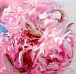 floral pink abstract flower like image in pink tones with shades photography painting art
