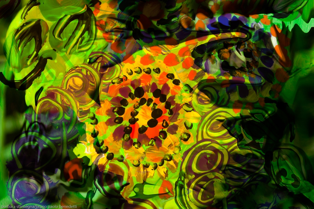 green abstract shapes movement image with fluid multicolored forms pp art artwork