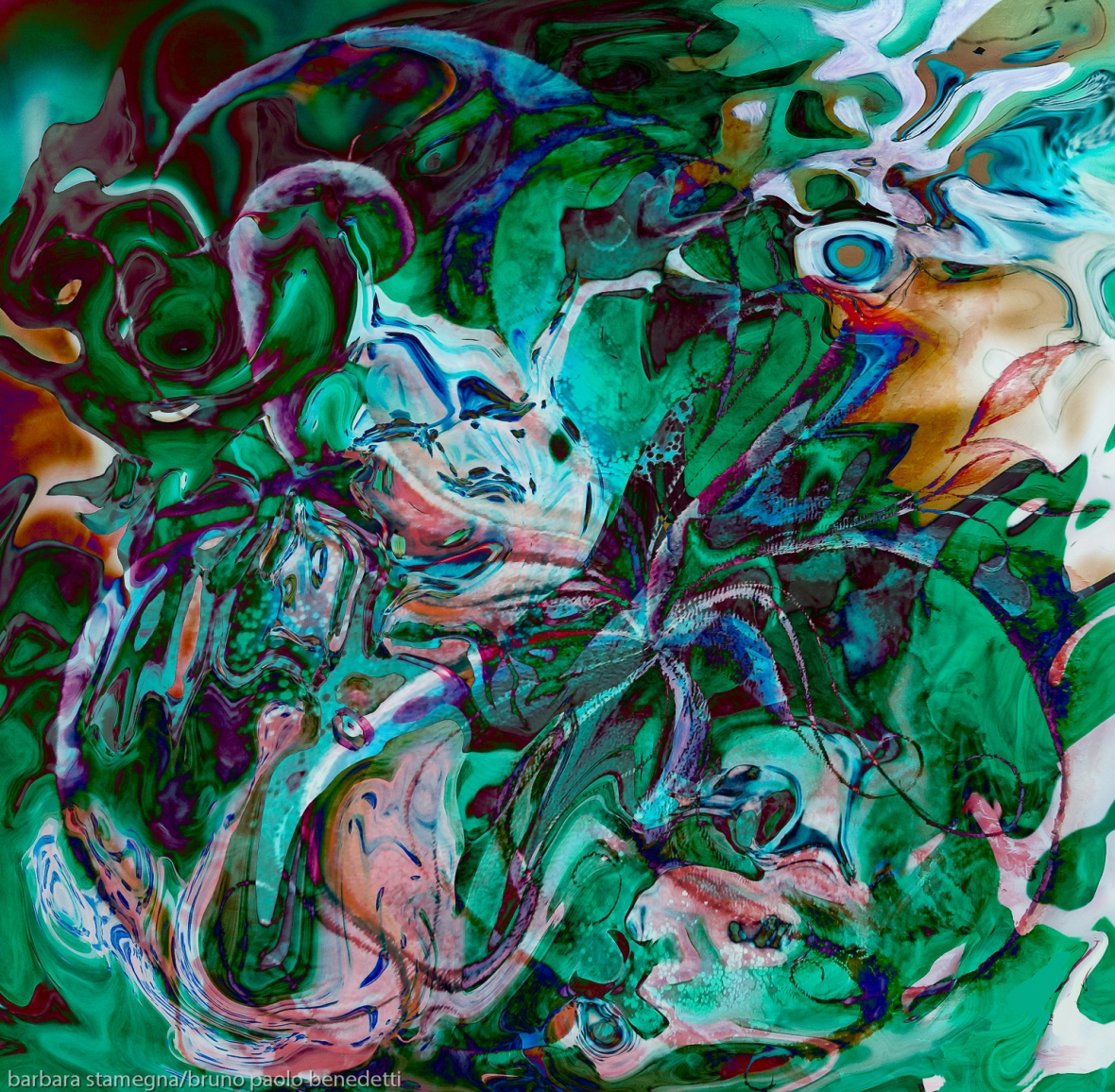 green labyrinth abstractions photography painting art in bright mottled colors photography painting art