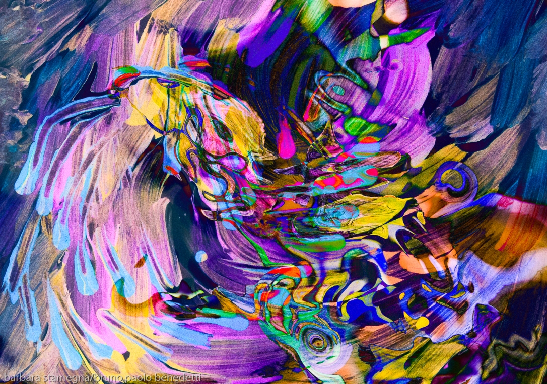 waving swirling flow abstract