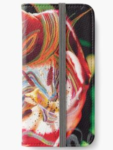 device cover with dominant red tones abstract art image design