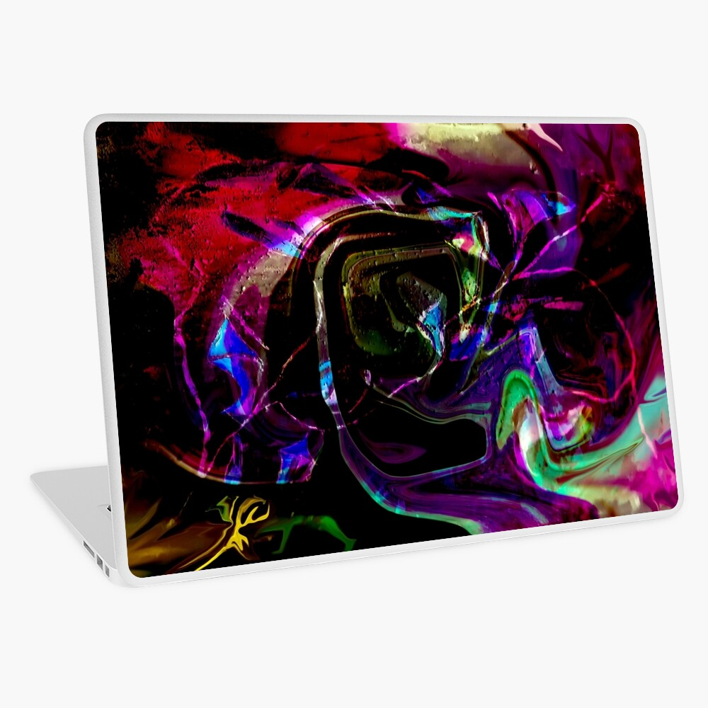 rainbow colored shapes laptop skin